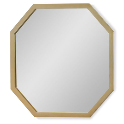 Chelsea by Rachael Ray White with Gold Accents Kids Bedroom Mirror