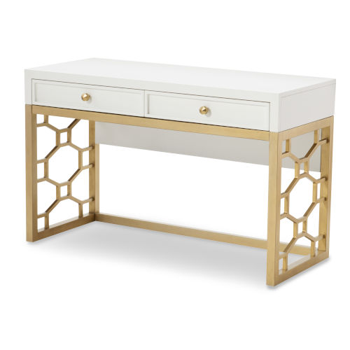 Chelsea by Rachael Ray White with Gold Accents Kids Desk