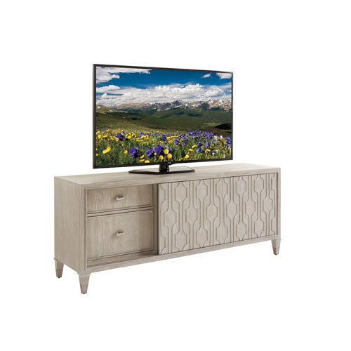 Greystone Pearl Gray and Nickel Reese Media Console