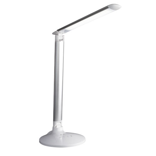 Command Grey LED Desk Lamp with Voice Assistant