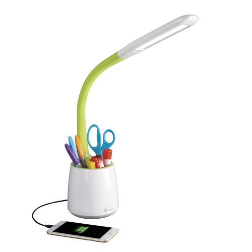 Organize White LED Desk Lamp