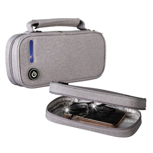 Gray UVC Disinfecting Travel Case