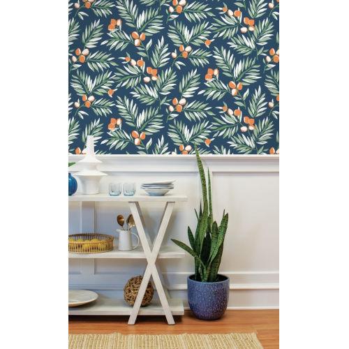 NextWall Citrus Branch Peel and Stick Wallpaper