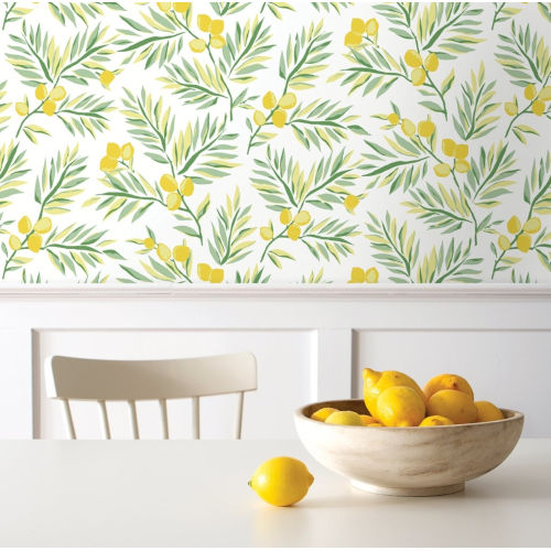 NextWall Lemon Branch Peel and Stick Wallpaper