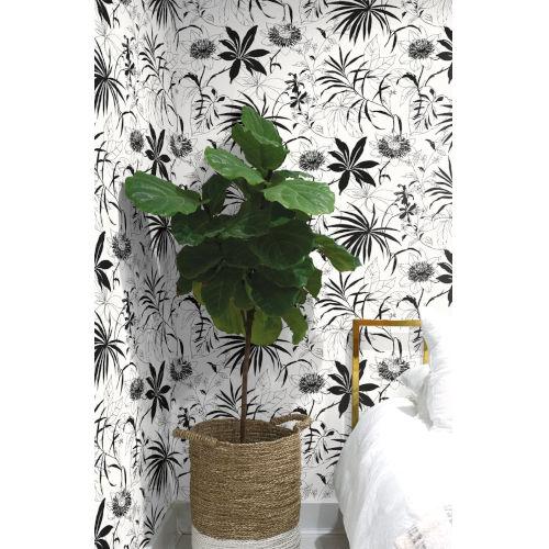 NextWall Tropical Garden Peel and Stick Wallpaper