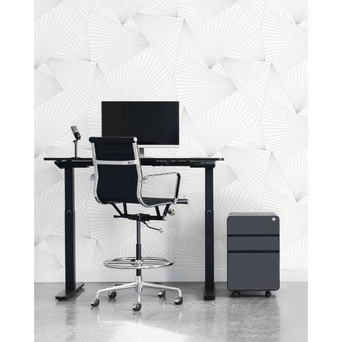 NextWall White Ray Geo Peel and Stick Wallpaper