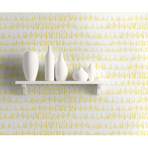 Living with Art Gold and White Brush Marks Unpasted Wallpaper