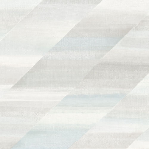 Boho Rhapsody Daydream Gray and Blue Oasis Rainbow Diagonals Unpasted Wallpaper