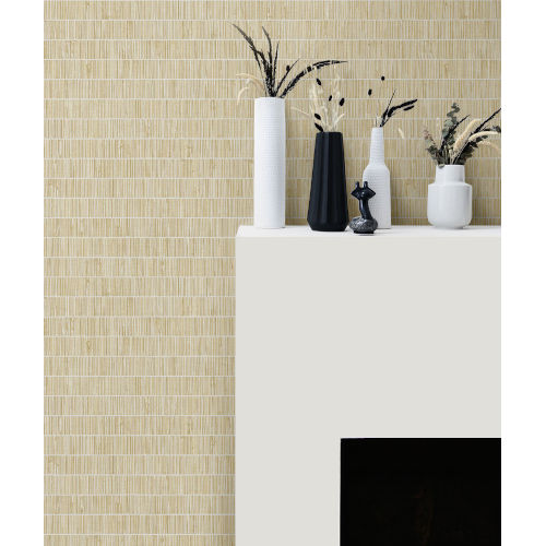 More Textures Gold Grass Band Unpasted Wallpaper