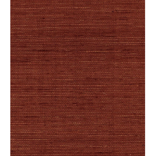 Lillian August Luxe Retreat Cabernet Sisal Grasscloth Unpasted Wallpaper