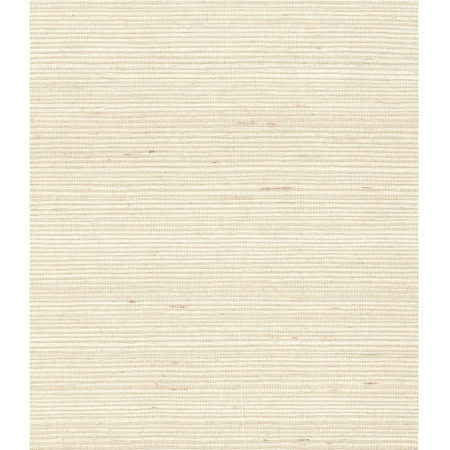 Lillian August Luxe Retreat Ivory Sisal Grasscloth Unpasted Wallpaper