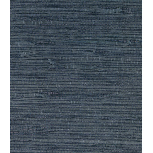Lillian August Luxe Retreat Aegean Blue Jute Grasscloth Unpasted Wallpaper