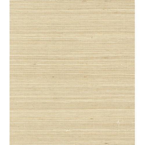 Lillian August Luxe Retreat Crème Brule Sisal Grasscloth Unpasted Wallpaper