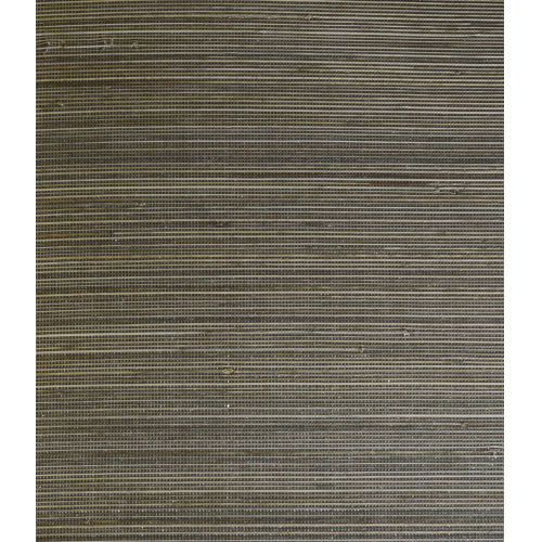 Lillian August Luxe Retreat Charcoal and Sandstone Abaca Grasscloth Unpasted Wallpaper