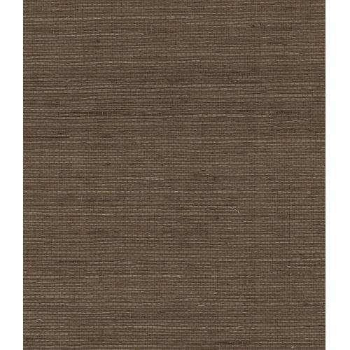 Lillian August Luxe Retreat Ash Brown Sisal Grasscloth Unpasted Wallpaper