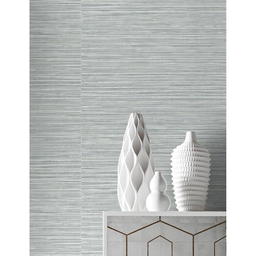 Lillian August Luxe Haven Light Blue Luxe Sisal Peel and Stick Wallpaper