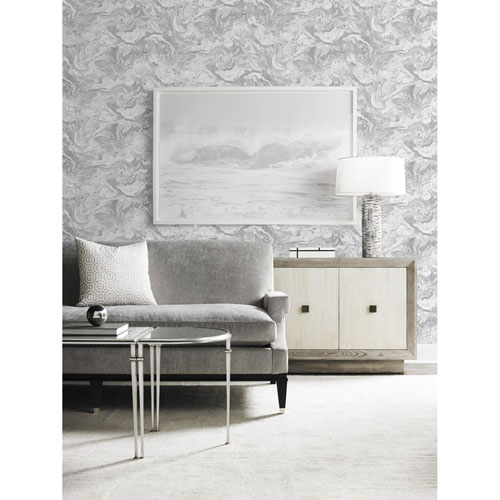 Lillian August Luxe Haven Gray Faux Marble Peel and Stick Wallpaper