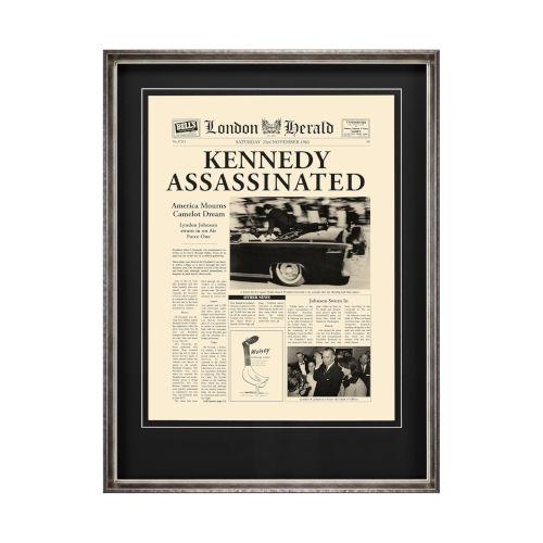 Yellow Kennedy Assassinated Wall Art
