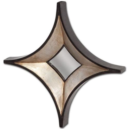 Ovallas Champagne Star Wood Frame Wall Mirror