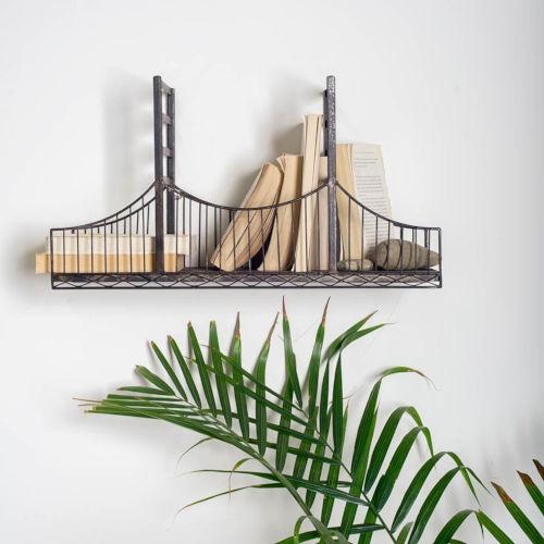 Fran Black Suspension Bridge Wall Shelf