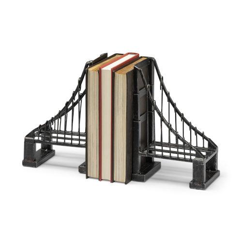 Suspension Brown Wrought Iron Suspension Bridge Bookend