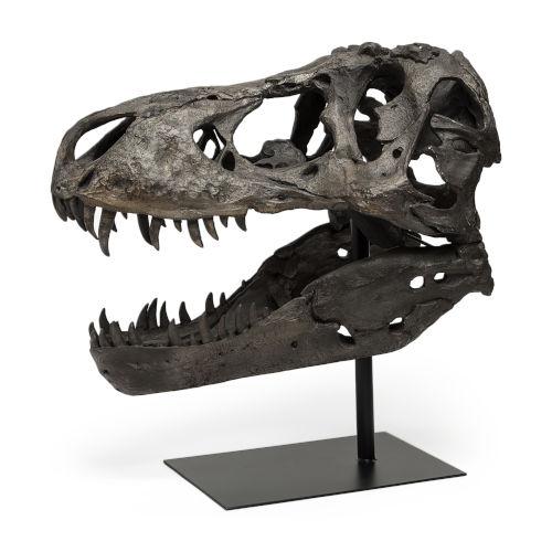 Jurassic Brown Resin Replica Tyrannosaurus Skull Decorative Object