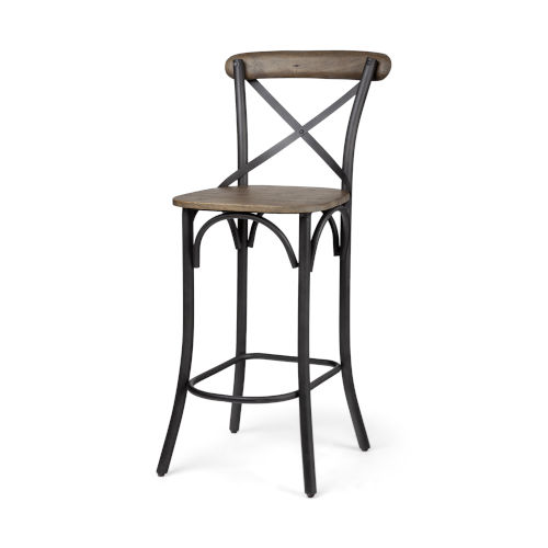 Etienne Brown and Black Bar Height Stool