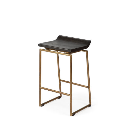 Givens Brown and Gold Counter Height (18 to 26 Inch)