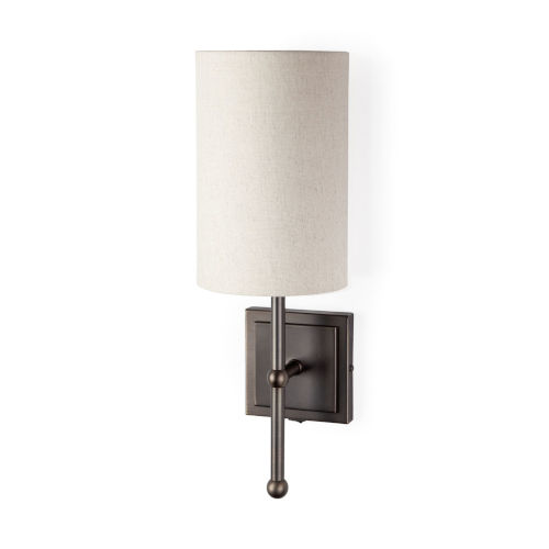 Bourgeois II Brown and White One-Light Wall Sconce
