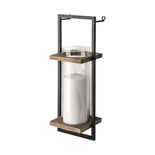 Milton Black Wall Mounted Candle Holder