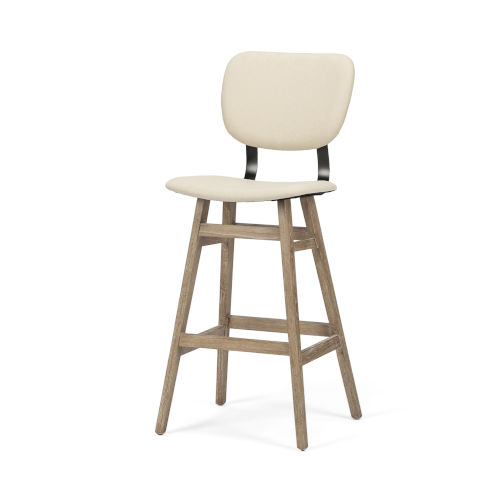 Haden Brown Upholstered Seat Bar Height Stool