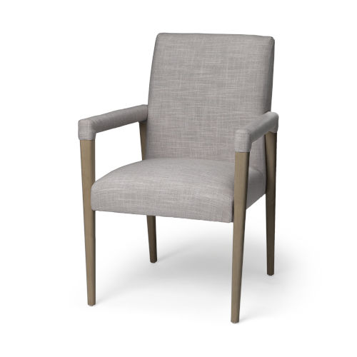 Palisades Gray and Brown Dining Arm Chair