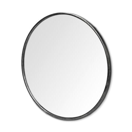 Piper Black Round Wall Mirror