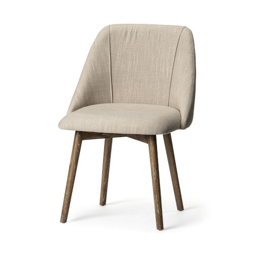 Ronald I Cream and Brown Dining Chair