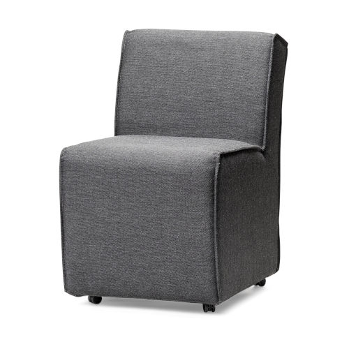 Damon Gray Silp-Cover Wheel Base Dining Chair
