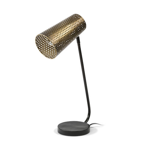 Wesley II Gold and Black One-Light Table Lamp