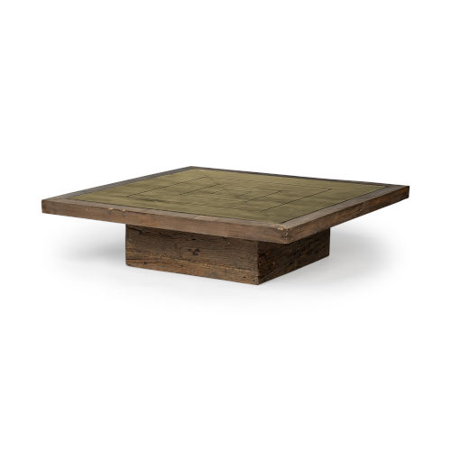 Kandinsky Brown Square Solid Wood Coffee Table