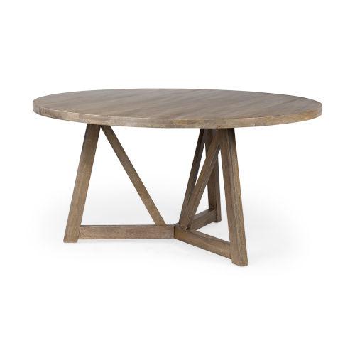 Legolas I Mahogany Round Solid Wood Dining Table