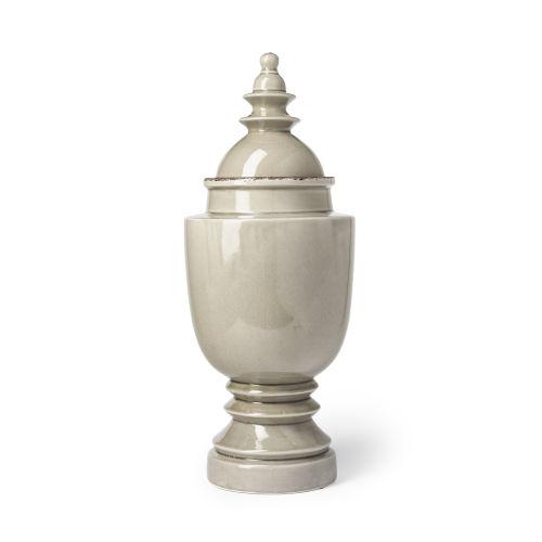 Branigan II Gray Ceramic Urn