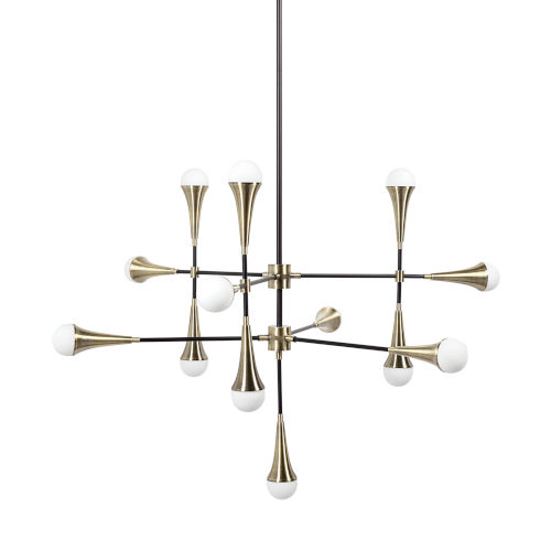 Decarlo II Gold and Black 13-Light LED Chandelier