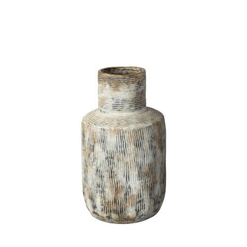 Jamal Two-Toned Gray Ceramic Vase