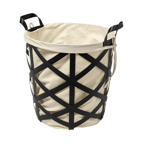 Liya Black Metal Basket