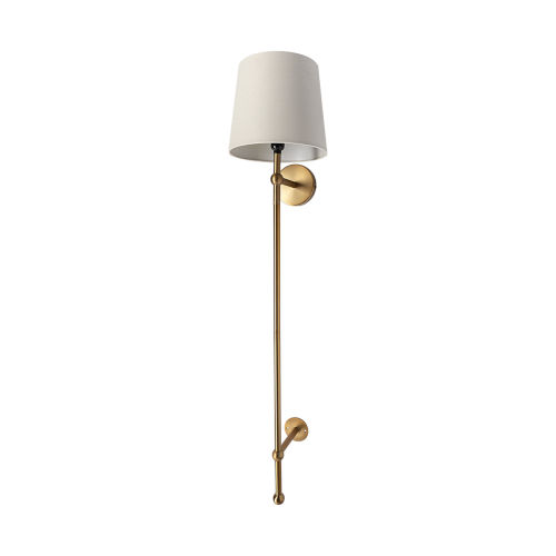 Chester Brass and Cream One-Light Wall Sconce