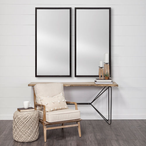 Black 20 X 40 In. Wall Mirror