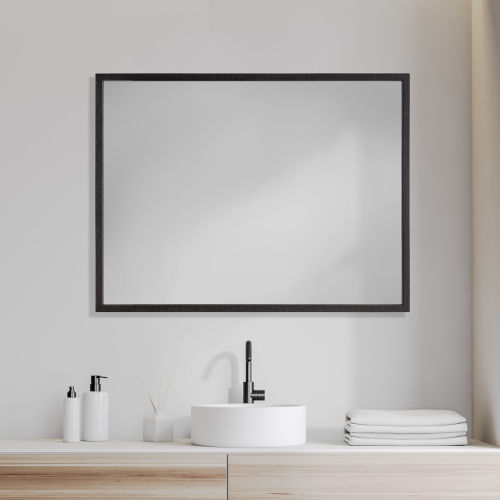 Black 30 X 40 In. Wall Mirror