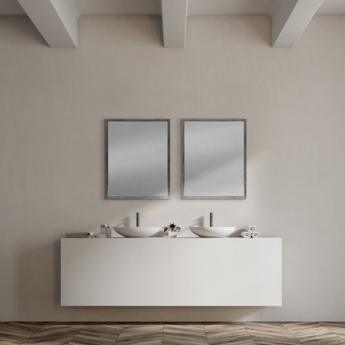 Gray 32-Inch Wall Mirror