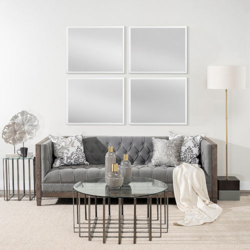 White 32-Inch Wall Mirror