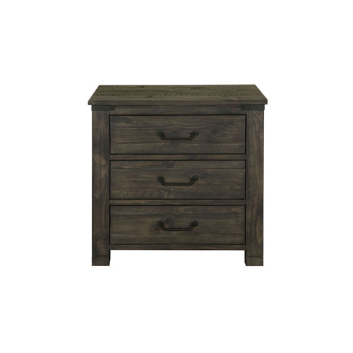 River Station 3 Drawer Nightstand in Weathered Charcoal