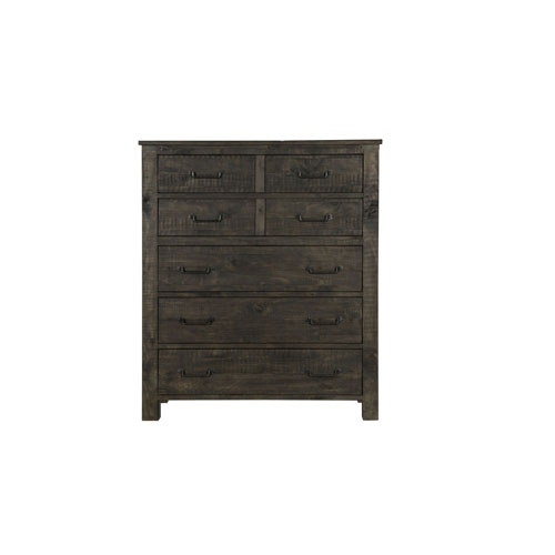 251 First River Station 5 Drawer Chest in Weathered Charcoal