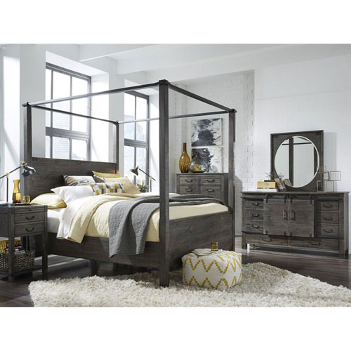 251 First River Station Poster Bed in Weathered Charcoal - California King
